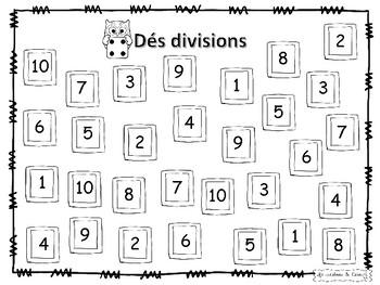 JEU SUR LES TABLES (+ - X /)