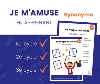 JEU des synonymes - Tous les cycles