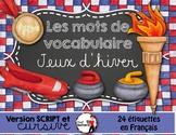 JEUX D'HIVER - Mots de vocabulaire /24 affiches (script et cursif)