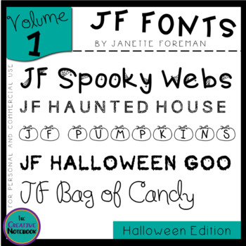 JF Fonts: Volume 1 | Personal or Commercial Use | Halloween Fonts Edition