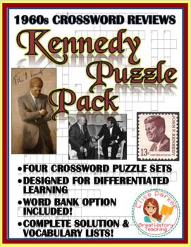 JFK / 1960s Crossword Puzzle Bundle