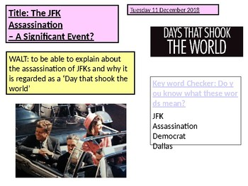 JFK Assassination - A Day That Shook the World Lesson