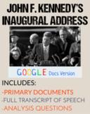 JFK Inaugural Address Speech Analysis Questions