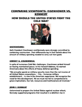 JFK and Eisenhower How should the US fight the Cold war