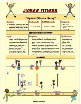 JIGSAW FITNESS - 30 Puzzle Cutouts & Activity Plan