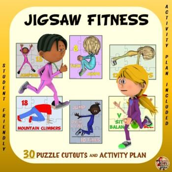JIGSAW FITNESS - 30 Puzzle Cutouts & Activity Plan