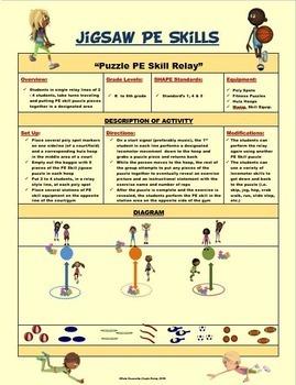 JIGSAW PE SKILLS- 30 Puzzle Cutouts & Activity Plan