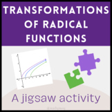Transformations of Radical Functions Jigsaw Activity