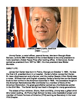 JIMMY CARTER (GRADES 7 - 12)