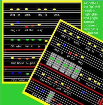 "JINGLE BELLS ~ Smartboard~ ""ti tika""~ ""fa""~ ""ti""~ Multiple Use Pages"
