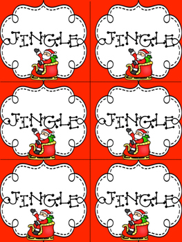 JINGLE! Sh, Th, Ch Flashcard Game