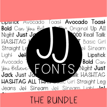 JJ Fonts Handwritten Font Bundle