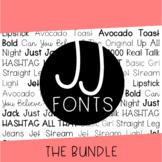 JJ Fonts Handwritten Font Bundle