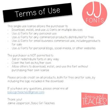 JJ Fonts Handwritten Fonts Volume One