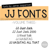 JJ Fonts Handwritten Fonts Volume Three