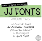JJ Fonts Handwritten Fonts Volume Two