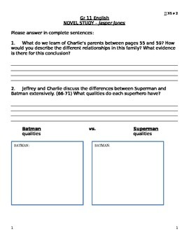 JJ NS #2 - Jasper Jones Novel Study Questions #2 (Chapter 1b) .docx version