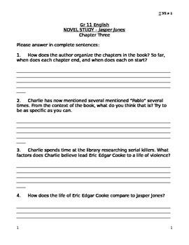 JJ NS 5 Jasper Jones Novel Study 5 Chapter 3 .docx version