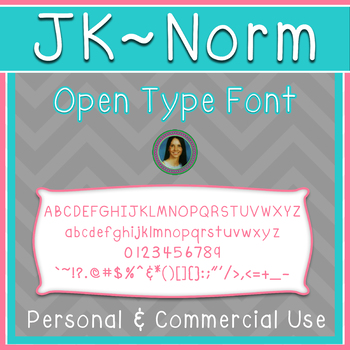 JK~NORM ~ Open Type Font ~ Personal or Commercial Use