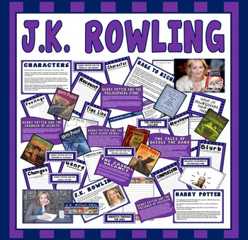 JK ROWLNG TEACHING DISPLAY RESOURCES ENGLISH READING KS2 AUTHOR HARRY POTTER