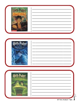 J.K Rowling Literacy Cards (Harry Potter)