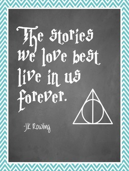 JK Rowling Quotes Posters: Class Decor Harry Potter
