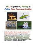 JKL: Alphabet, Poetry & Fables-Oral Communication Practice
