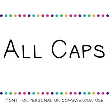 JM All Caps Font