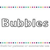 JM Bubbles Font