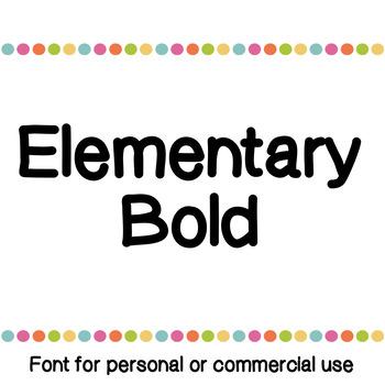 JM Elementary Bold Font