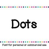 JM Dots Font