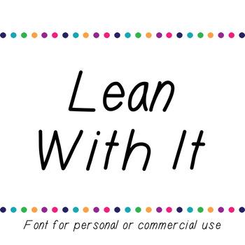 JM Lean With It Font