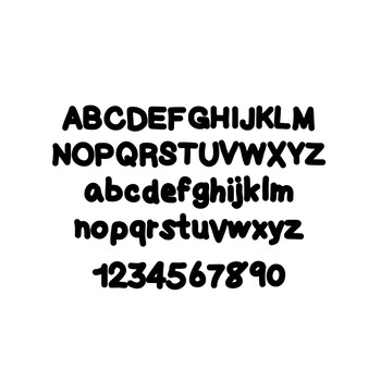 JM Thickly Thick Font