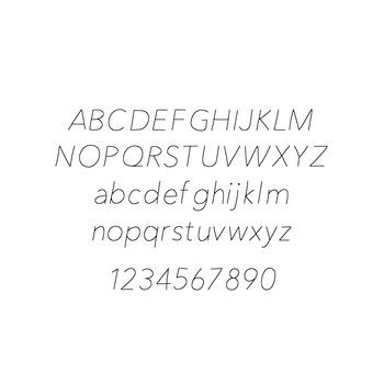 JM Thin Font