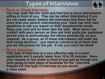 """JOB INTERVIEW POWERPOINT PRESENTATION """"How to Make a GOOD 1st Impression"""""""