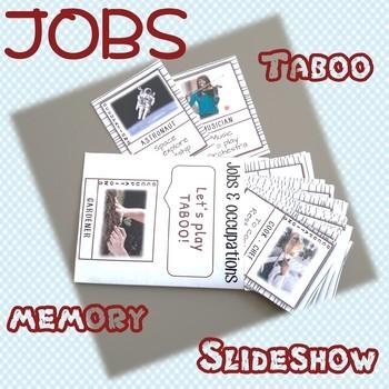 JOBS - Interactive SLIDESHOW, TABOO and MEMORY