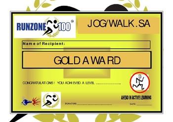 JOG/WALK.SA Program Certificate