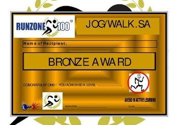 JOG/WALK.SA Program Certificates