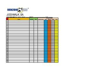 JOG/WALK.SA Recording Data Sheets