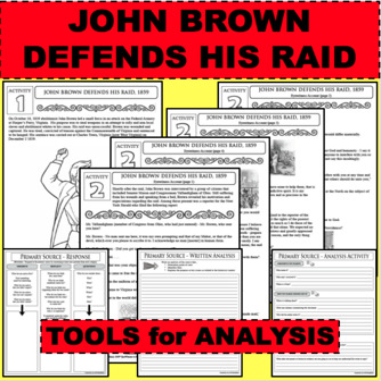 JOHN BROWN DEFENDS HIS RAID CIVIL WAR Eyewitness Accounts Reading Comprehension