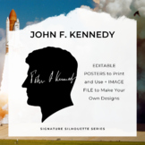 JOHN F. KENNEDY Signature Silhouette Posters