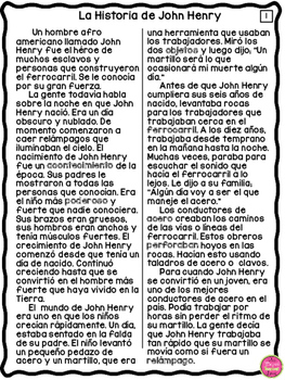 JOHN HENRY TALL TALE IN SPANISH