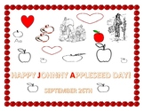 JOHNNNY APPLESEED DAY: COLORING PAGE K-3