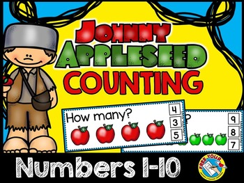 JOHNNY APPLESEED MATH CENTER (COUNTING APPLES CLIP CARDS) COUNTING PICTURES 1-10