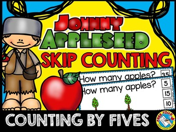 JOHNNY APPLESEED MATH CENTER: SKIP COUNTING CLIP CARDS: COUNTING BY FIVES