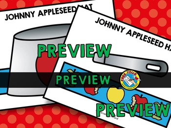 JOHNNY APPLESEED CRAFTS HAT TEMPLATE (APPLE THEME CRAFTS) JOHNNY APPLESEED HAT