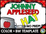 JOHNNY APPLESEED ACTIVITY (APPLE CRAFT FOR KINDERGARTEN) SEPTEMBER HAT TEMPLATE