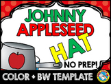 JOHNNY APPLESEED CRAFTS HAT TEMPLATE (APPLE THEME CRAFTS)