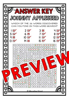 JOHNNY APPLESEED ACTIVITIES: JOHNNY APPLESEED PRINTABLES: WORD SEARCH & MORE