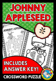 JOHNNY APPLESEED ACTIVITY (FALL WORKSHEETS 2ND GRADE, 3RD GRACE, ETC)